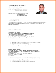 Samples Of Objectives In Resumes by Civil Engineer Objective Resume Free Resume Example And Writing