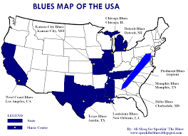 Map If The Usa by Speakin U0027 The Blues The Blues Map Of The Usa
