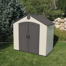 lifetime 8 u0027 x 5 u0027 outdoor storage shed bj u0027s wholesale club