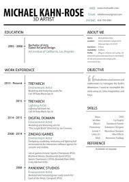 Example Artist Resume 3d Lighting Artist Resume Virtren Com