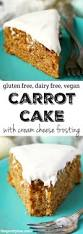 carrot cake with cheese frosting gluten free vegan the