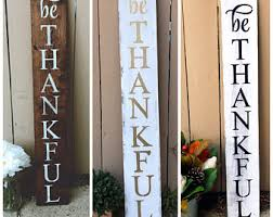 Outdoor Decorative Signs Thankful Grateful Blessed Fall Decor Thankful Wood Sign