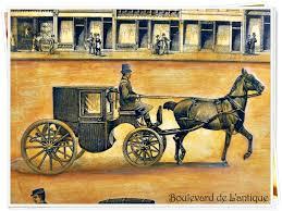 boulevard de l u0027antique vintage town rush hour