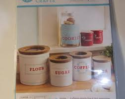 martha stewart kitchen canisters kitchen canisters etsy