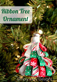 ribbon tree ornament sew woodsy