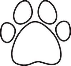 paw print template cat paw print pattern use the printable outline for crafts