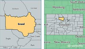 grand county colorado map of grand county co where is grand