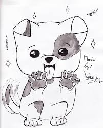 cute dogs drawings for kids