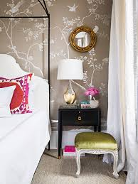Feminine Bedroom Furniture by Feminine Bedroom With Glam Touches And Silk Wallpaper Digsdigs