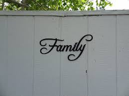 amazon com family word home decor metal wall art home u0026 kitchen