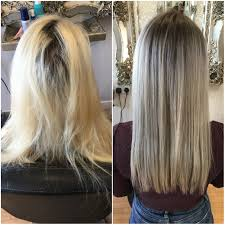 best way to blend gray hair into brown hair grey toners used to blend existing bleached hair into roots hair