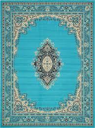 turquoise 9 u0027 10 x 13 u0027 mashad design rug area rugs esalerugs