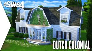 the sims 4 speed build 175 dutch colonial youtube
