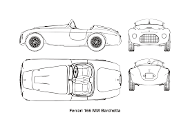 ferrari drawing clipart ferrari 166 mm barchetta year 1948