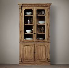 restoration hardware china cabinet james glass double door sideboard hutch