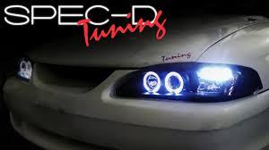 1994 mustang gt headlights specdtuning installation 1994 1998 ford mustang 1