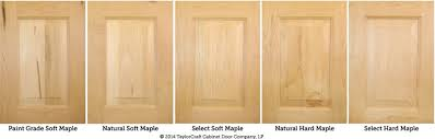 solid maple cabinet doors differences between hard maple and soft maple kitchen cabinet doors