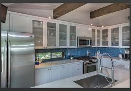 awesome frosted glass kitchen cabinet doors with glass blue subway
