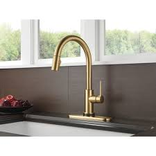delta touch20 kitchen faucet trinsic single handle pull kitchen faucet featuring touch2o