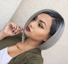 colorful short hair styles beautiful silver ombre hairstyles for short hair