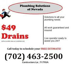 Plumber Estimate by Free Estimates Plumbing Serving The Entire Las Vegas Valley