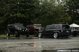 jeep wrangler slammed a lowered patriot and two beautiful wranglers at southrnfresh4 in