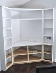 Built In Bookshelves With Desk by Corner Built Ins Bungalow Blue Interiors Home Corner Built
