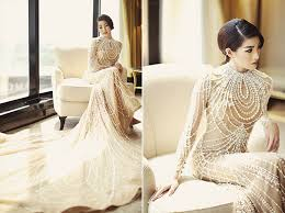 wedding dress bandung a breathtaking pearl embroidered gown for a chagne
