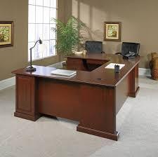 Used U Shaped Desk Realspace Broadstreet Contoured U Shaped Desk Assembly