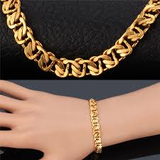 rose link bracelet images Collare cuban link chain bracelet men jewelry rose gold gold jpg