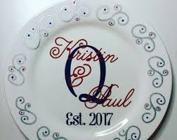 personalized ceramic wedding plates wedding plate etsy
