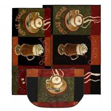 Ideas Kitchen Slice Rugs Design Coffee Rugs For Kitchen Decor Cut In Slice As Doormat Ideas With