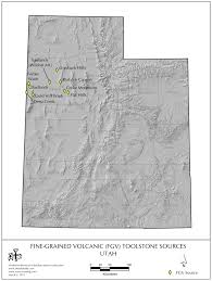 Montana Wyoming Map by Obsidian Source Maps United States