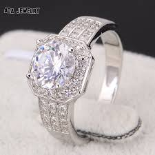 fashion wedding rings images Zircon rings for women wedding ring big crystal jewelry engagement jpg