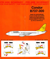 Condor Airlines Route Map by Airline Memorabilia Condor 1992