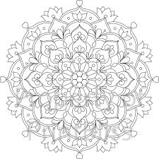 29 flower mandala printable coloring printbliss etsy