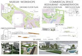 cultural district architectural design studio sem 8 on behance