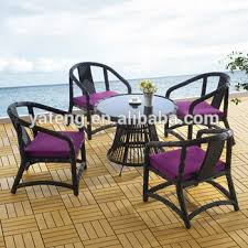 Used Outdoor Furniture - oem big poly rattan outdoor table and chairs used garden patio