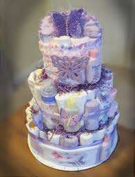 purple butterfly diaper cake can wait to make one for u and june