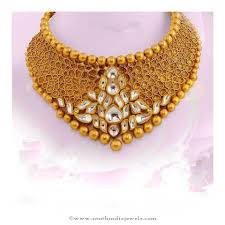 gold necklace set jewellery images Gold kundan necklace from avr swarnamahal jewelry necklace jpg