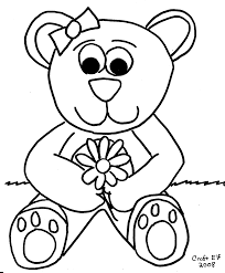 christmas teddy bear coloring pages children bears hearts