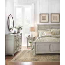 home decorators collection bridgeport antique grey king bed