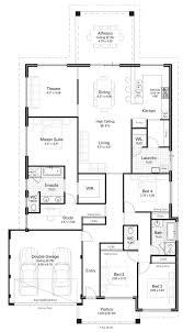 4 bedroom floor plans floor plan friday 4 bedroom study high ceilings u0026 kitchen on