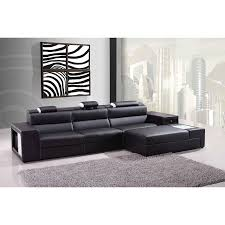 Sofa Casa Leather Divani Casa Polaris Mini Contemporary Bonded Leather Sectional Sofa