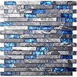 Amazoncom Blue Glass Tiles  Tiles Tools  Home Improvement - Blue glass tile backsplash
