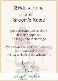 wedding registry card wording wedding invitations wording sles from and groom