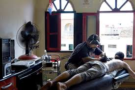 Cuban Flag Tattoos Cuban Tattoo Artists Battle The Castro Regime And Censorship