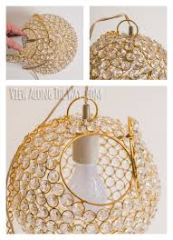 Diy Ball Chandelier Diy Crystal Chandelier 11 For Making A Home And Make Best 25 Ideas