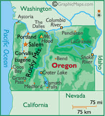 map of oregon mountains weather or