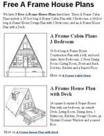 free a frame house plans free house plans free floor plans